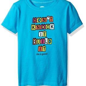 Life is Good Toddler Build Blocks Tee Tshirt